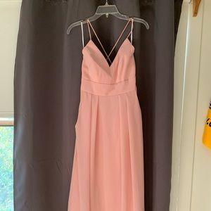 After Six floor length bridesmaid dress
